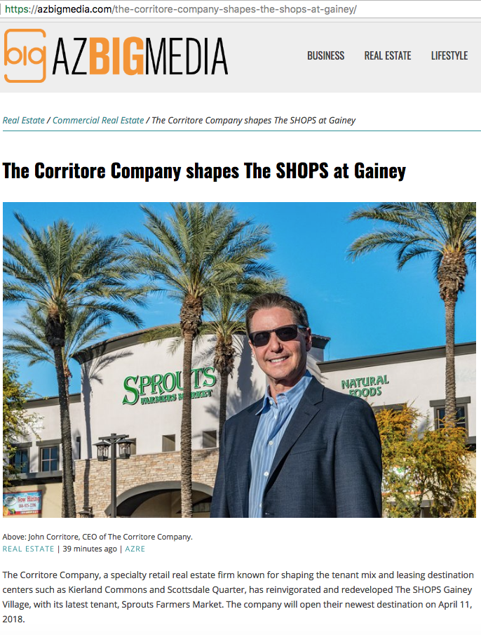 az big media the corritore company john corritore shops gainey village sprouts farmers market